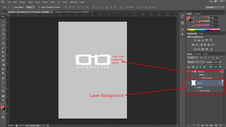 Layer Background Photoshop