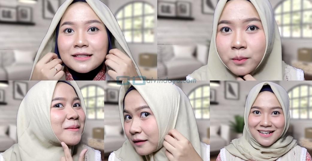 Tutorial Hijab Seg Empat Wajah Bulat