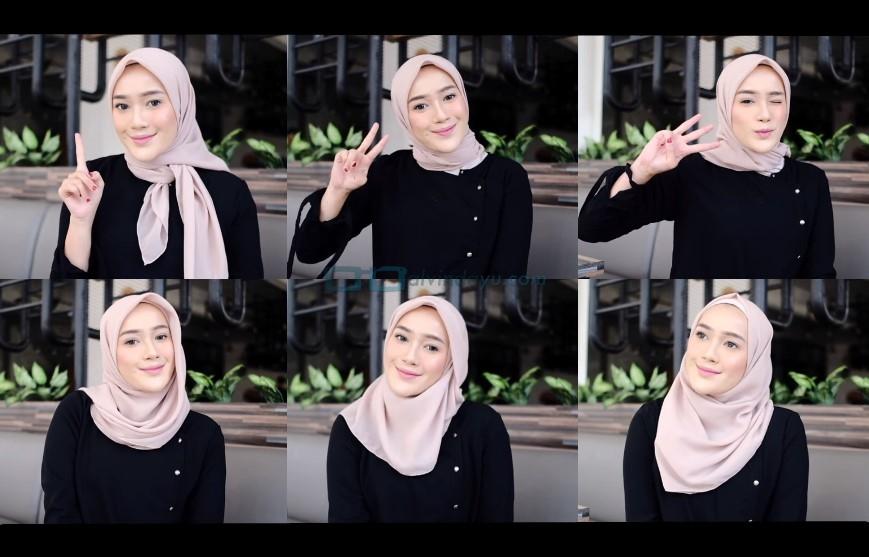 Tutorial Hijab Segi Empat Simple Dan Modis Terbaru Cantik Ala Selebgram Hits Dyah Ayu Alvinda