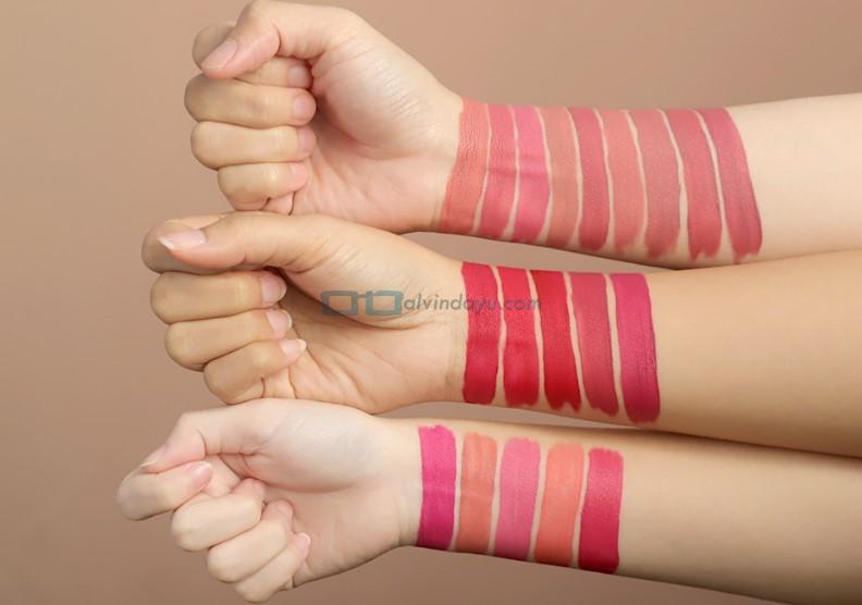 Warna dan Pigmentasi Wardah Exclusive Matte Lip Cream