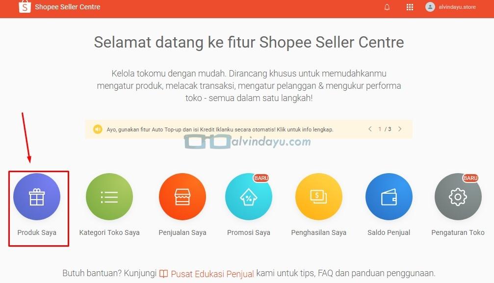 Cara Menambahkan Produk Via Seller Center Shopee, Beranda Shopee Seller Centre