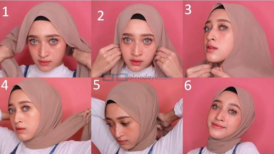 Cara Memakai Hijab Pashmina Simple dan Modis