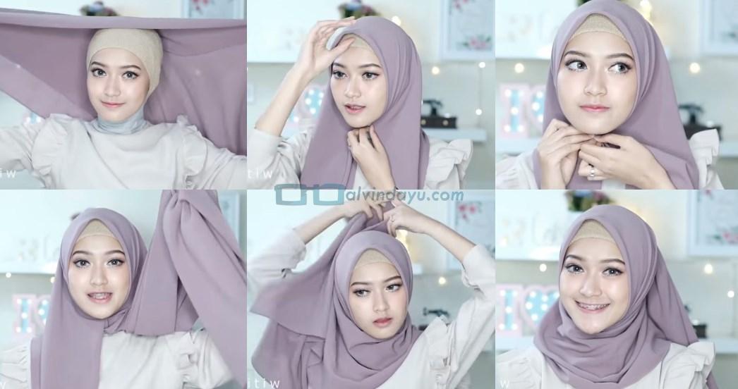 Tutorial Hijab Pashmina Pesta Kekinian