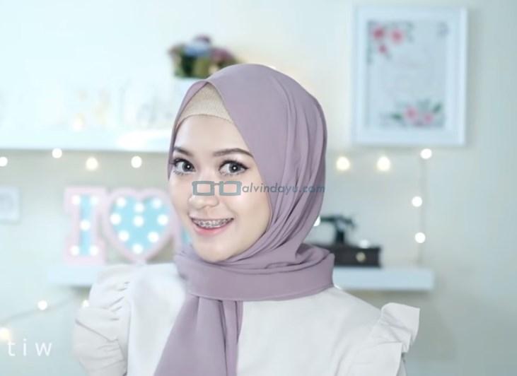 Tutorial Hijab Pashmina Pesta Modern Tanpa Jarum Pentul SELESAI
