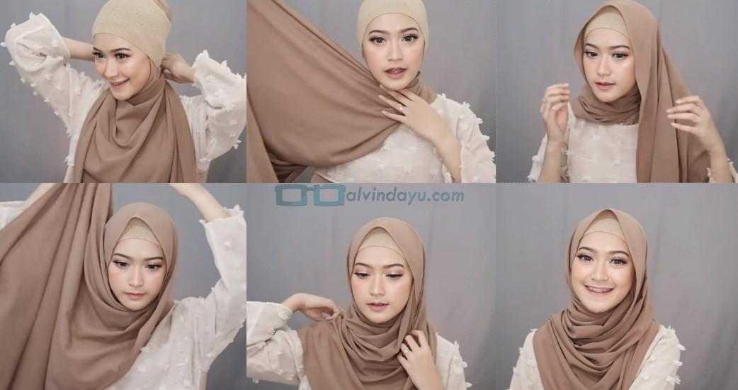 Tutorial Hijab Pashmina Simple Menutup Dada Kekinian