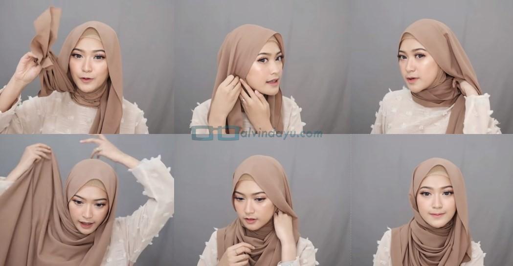 Tutorial Hijab Pashmina Simple Syari untuk Remaja