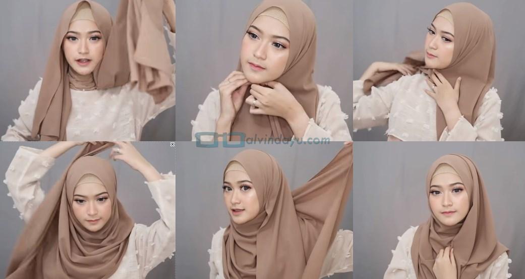 Tutorial Hijab Pashmina Syari Simple dan Mudah