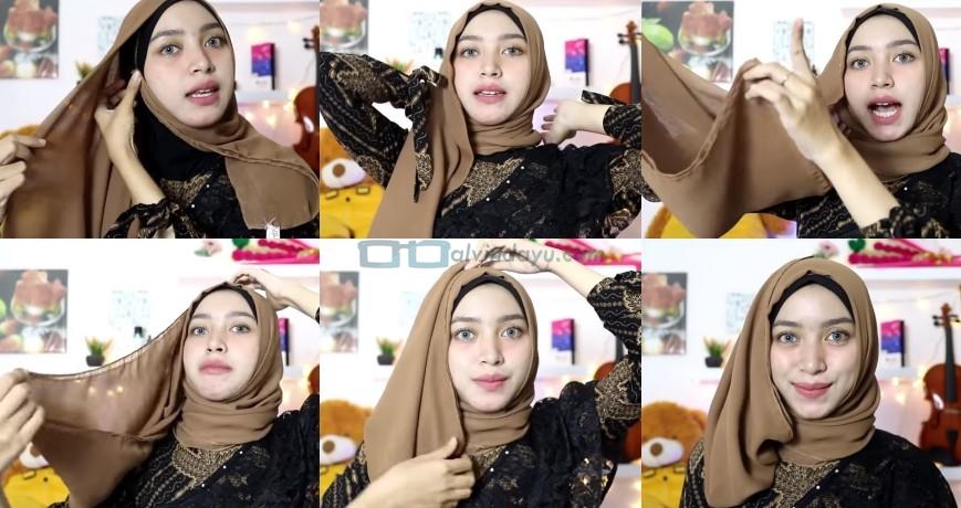 Tutorial Hijab Pesta Elegan Segi Empat