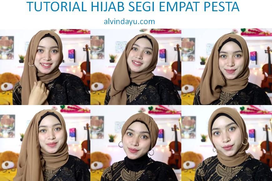 6 Tutorial Hijab Segi Empat Pesta Elegan Dan Simple Kekinian Pas Untuk Ke Kondangan Dan Wisuda Dyah Ayu Alvinda