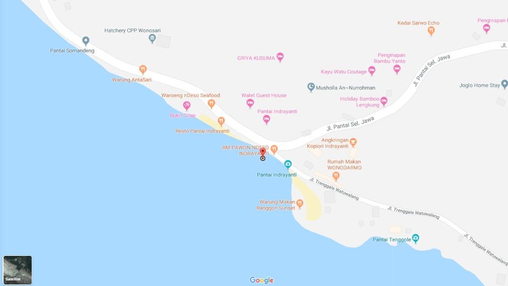 Peta Lokasi Pantai Indrayanti Jogja
