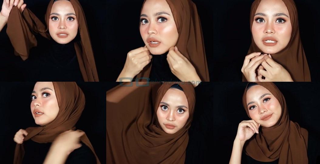 Tutorial Hijab Pashmina Diamond Syari Menutup Dada