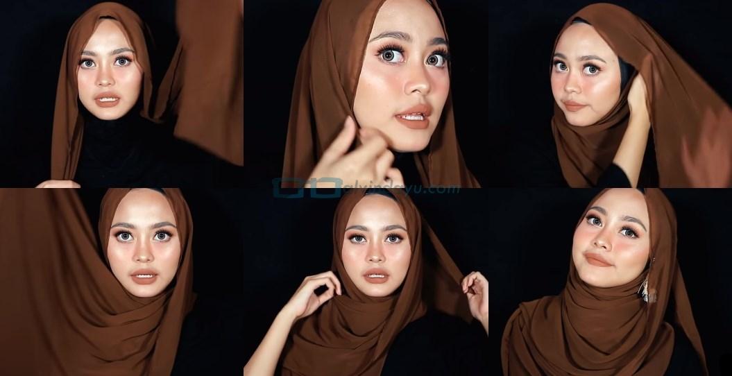 Tutorial Hijab Pashmina Diamond untuk Remaja Kekinian