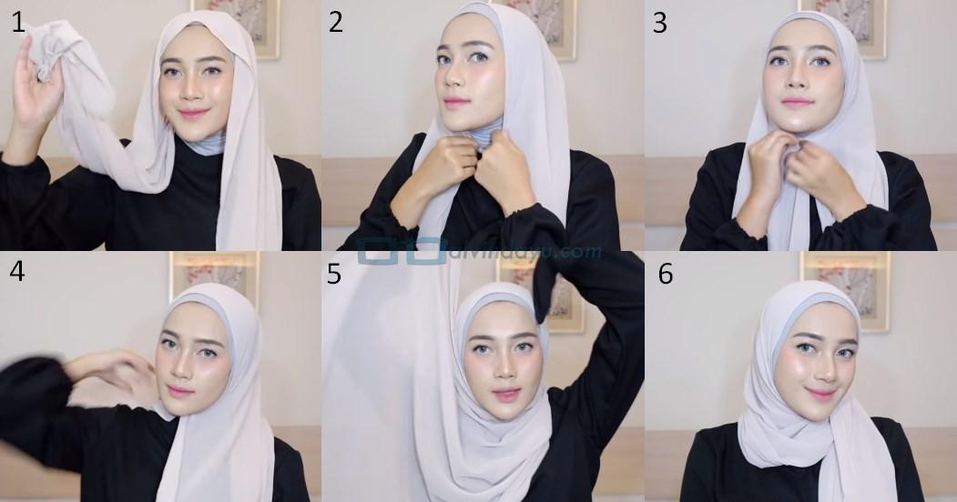 Tutorial Hijab Pashmina Simple Ala Selebgram