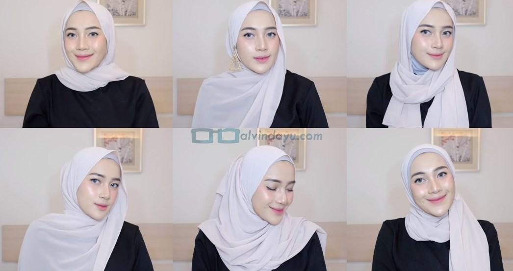 Tutorial Hijab Pashmina Simple