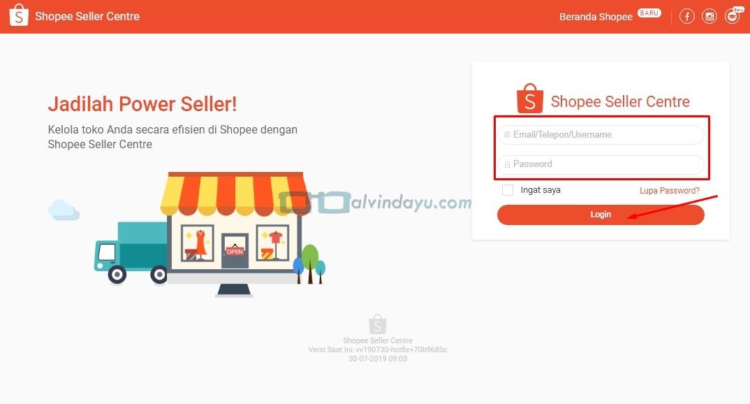 Cara Menghapus Produk di Shopee, Website Shopee Seller Centre
