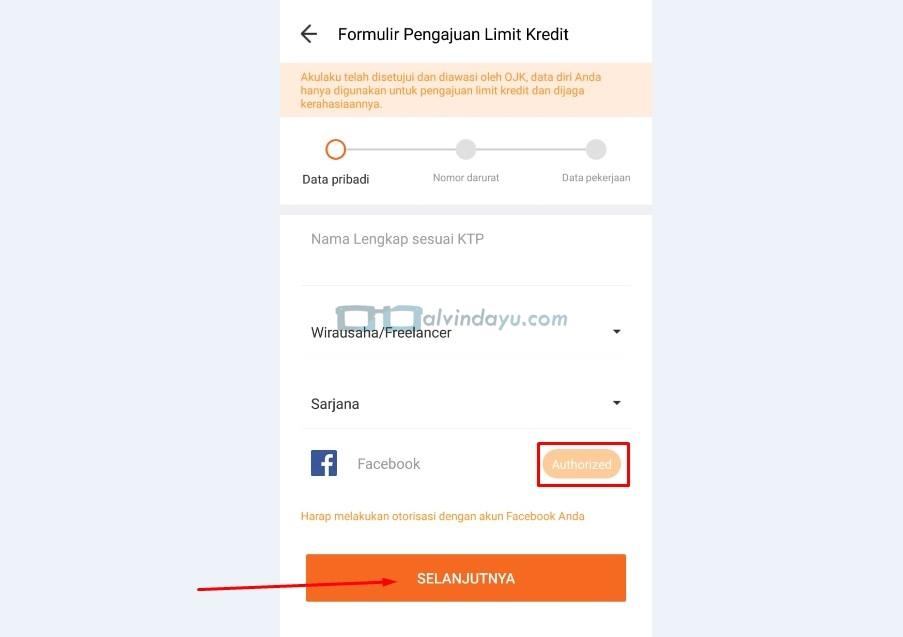 Data Pribadi Setelah Facebook Terotorisasi