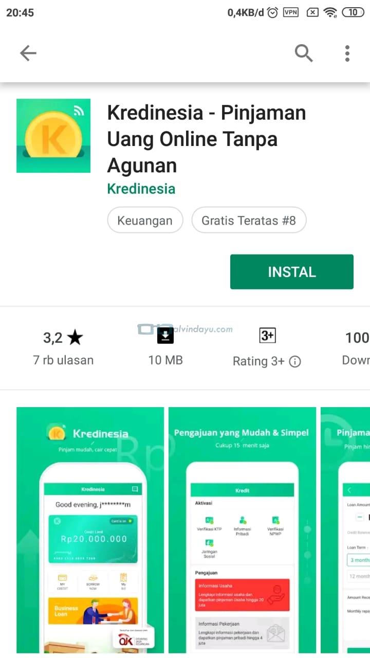 Download aplikasi kredinesia