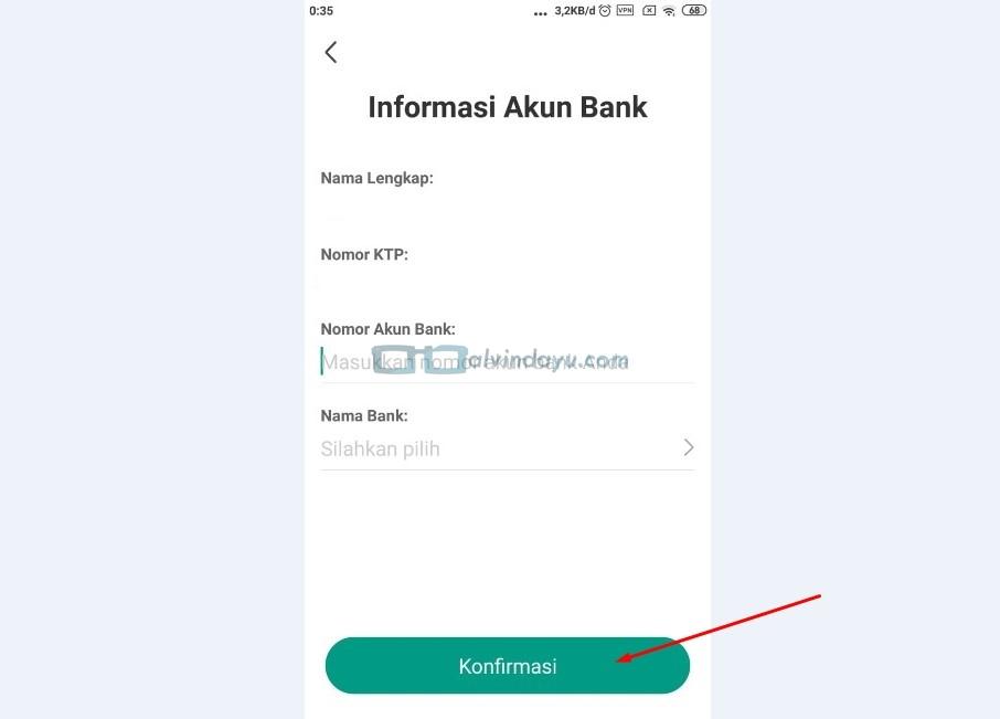Informasi Akun Bank