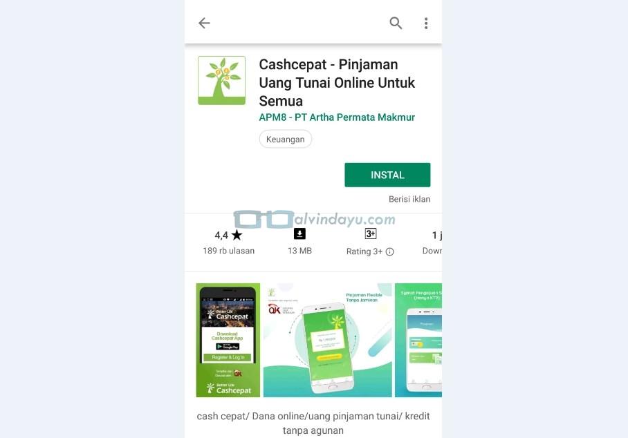Instal Aplikasi Cash Cepat