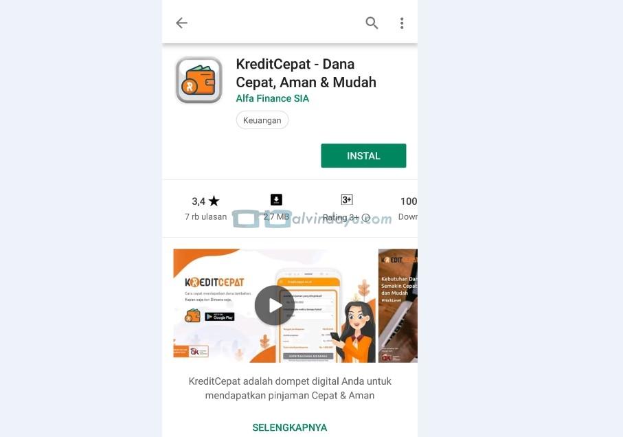 Instal Aplikasi Kredit Cepat