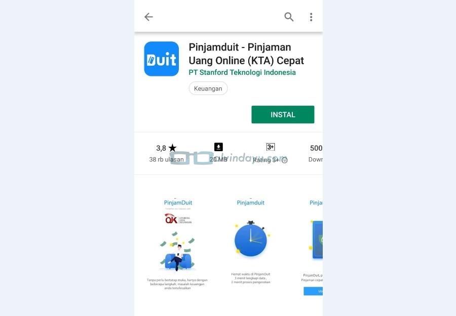 Instal Aplikasi PinjamDuit