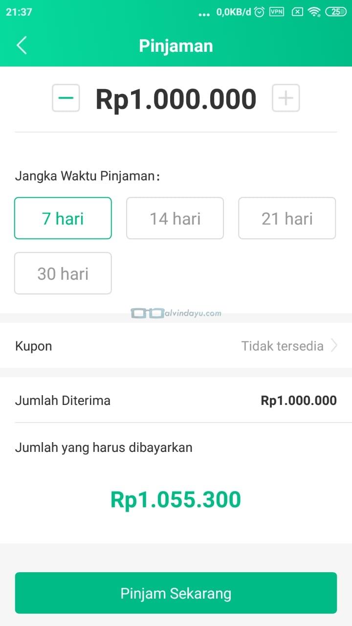 Jumlah Pinjaman