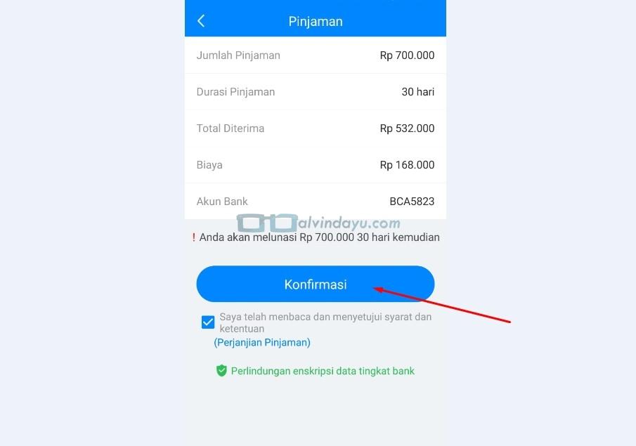 Konfirmasi Detail Pengajuan Pinjaman