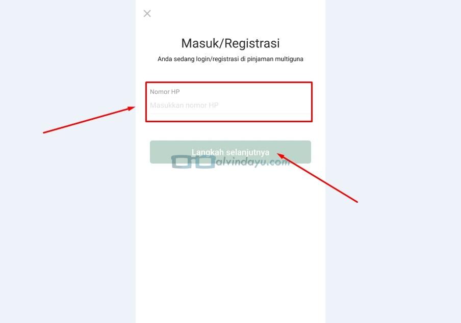 Masuk atau Registrasi