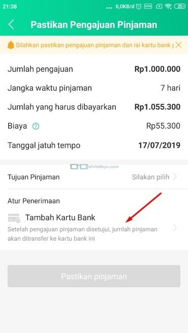 Masukan akun bank anda