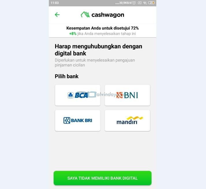 Pilih akun bank