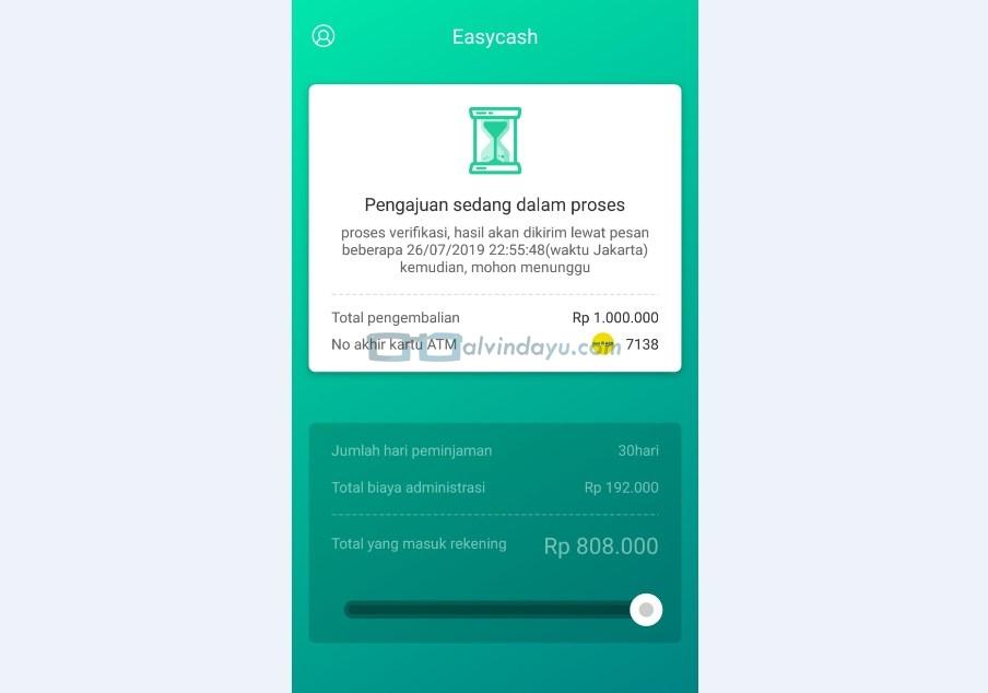 Proses Pengajuan KTA Online Tanpa Kartu Kredit Easy Cash Selesai