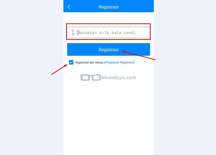 Registrasi Akun dan Kata Sandi