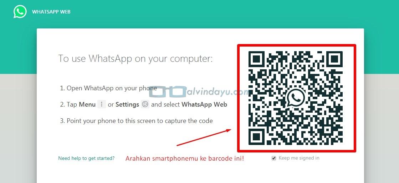 Scan Barcode WhatsApp Web