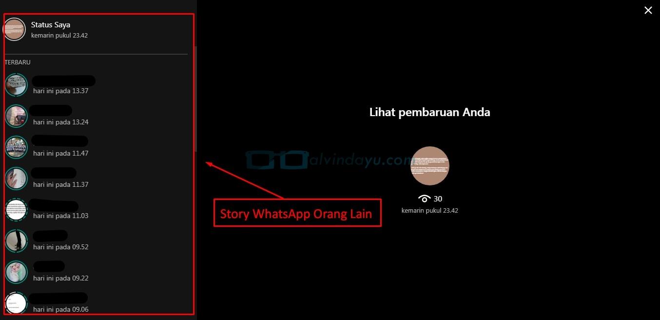 Story WhatsApp Orang Lain