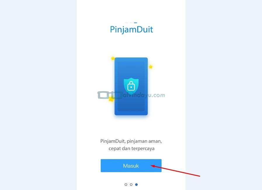 Tampilan Awal Aplikasi PinjamDuit