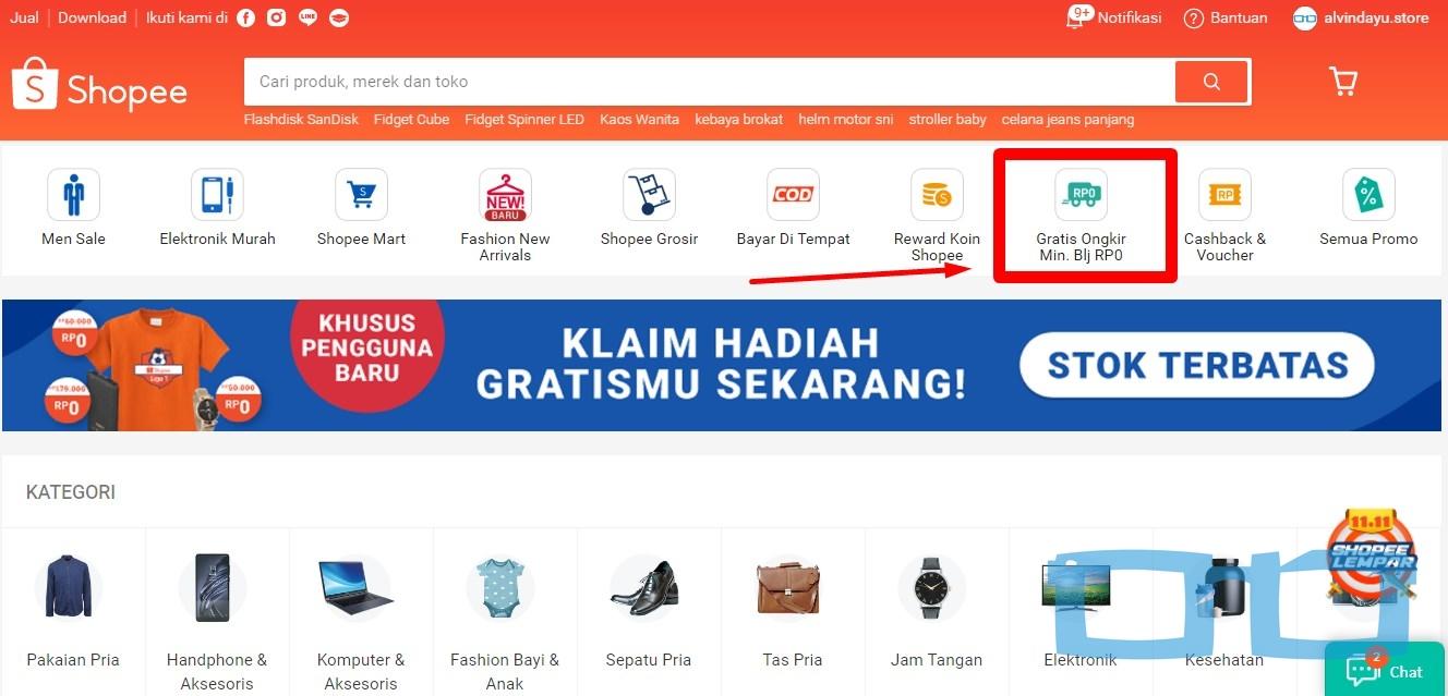 Icon Gratis Ongkir Shopee