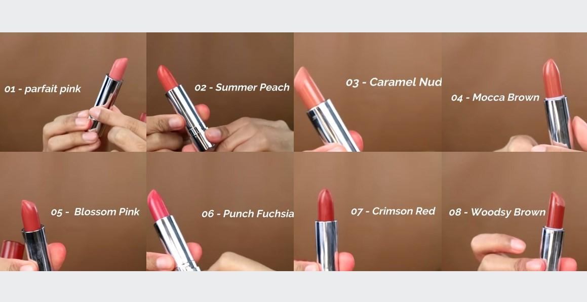 8 Shade Colorfit Ultralight Matte Lipstick Wardah
