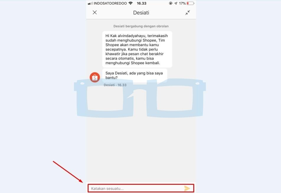 Balas Chat Shopee untuk Ganti Nomor HP atau Telepon