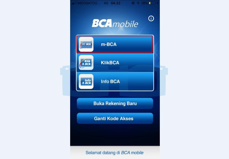 Buka Aplikasi mBanking BCA untuk Top Up OVO