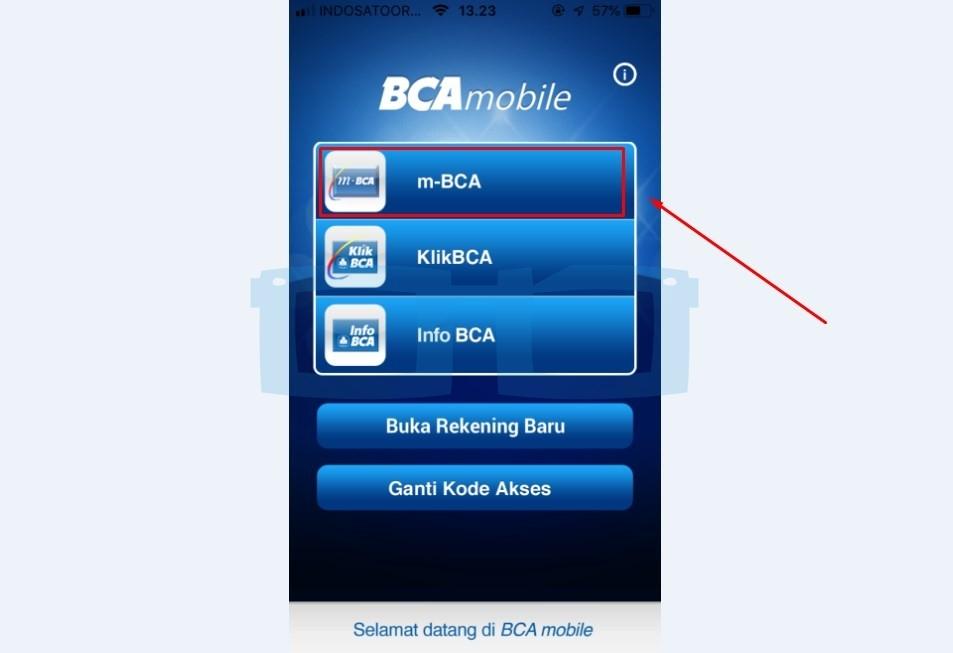Buka Aplikasi mBanking BCA