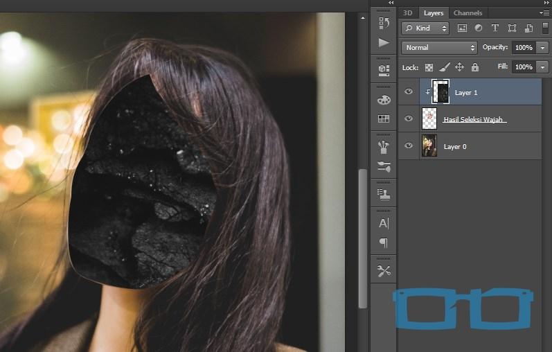 Hasil Penumpukan Objek di Photoshop