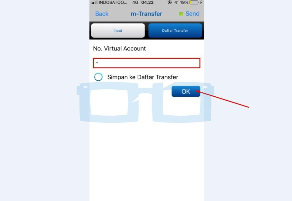 Isi No Virtual Account Top Up OVO di mBanking BCA