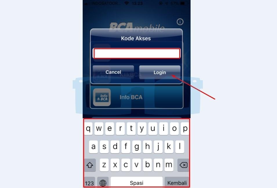 Masukkan Kode Akses mBanking BCA