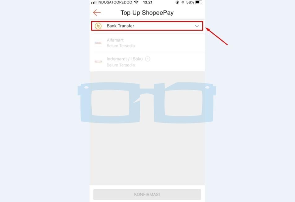 Metode Top Up Shopeepay Lewat Bank Transfer