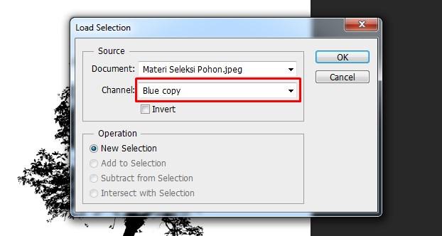 Pilih Channels Blue Copy yang Dibuat Sebelumnya