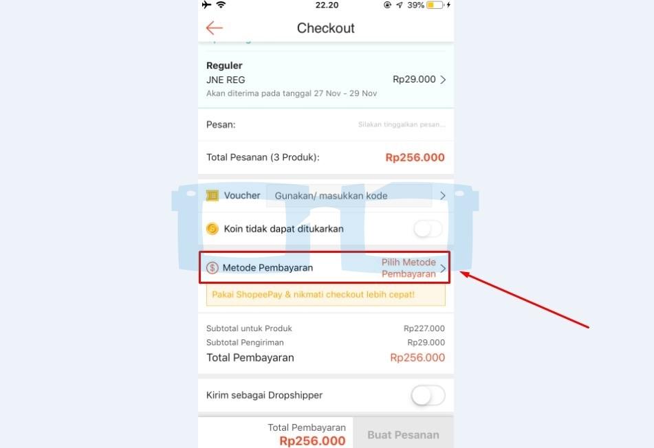 Pilih Metode Pembayaran Shopee Lewat Indomaret