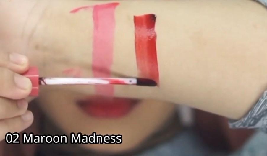 Shade Nomor 02 Maroon Madness Lip Tint Pixy Get Inked