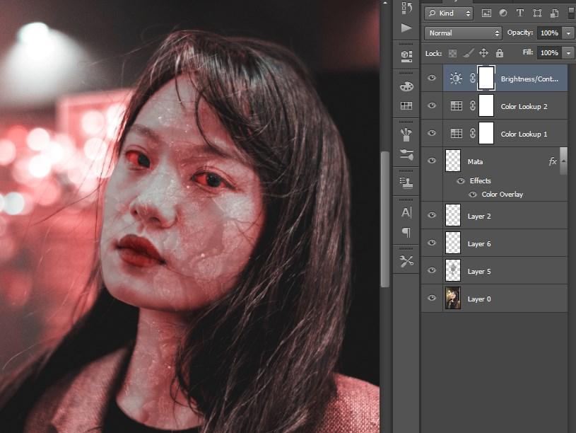 Susunan Layar Edit Foto Zombie