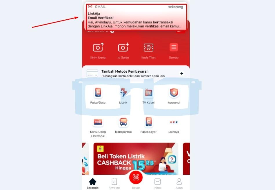 Buka Email untuk Verifikasi Link Aja New