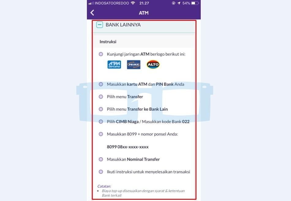 Cara Top Up OVO di ATM Bank Lainnya